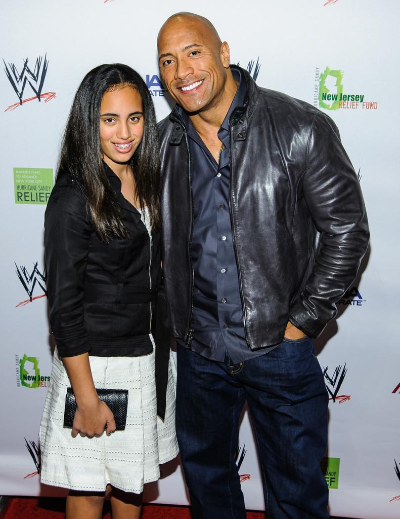 Dwayne Johnson and daughter Simone
