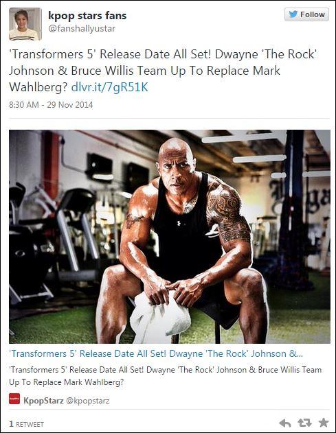 Dwayne Johnson - Transformers